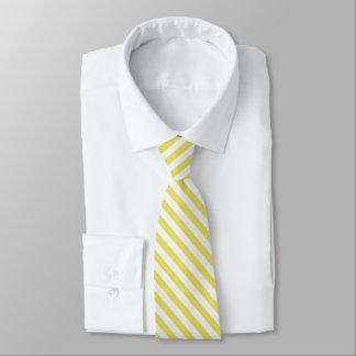 Gravata Ouro pálido e listras brancas por Shirley Taylor
