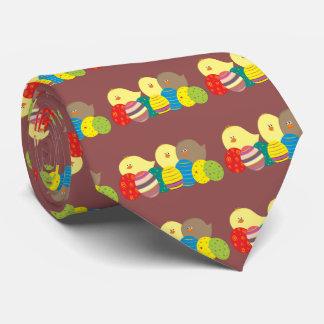 Gravata Ovos ornamentado coloridos bonitos dos desenhos