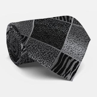 Gravata Padrões cinzentos exóticos do animal do safari