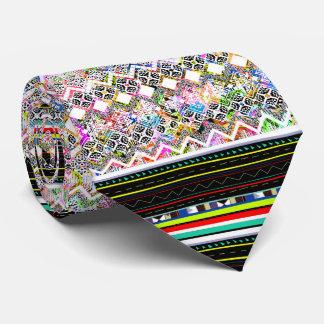 Gravata Padrões tribais astecas coloridos bonitos
