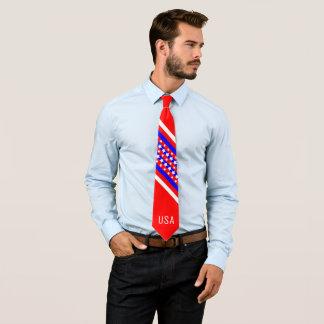 Gravata Patriota branco vermelho americano orgulhoso dos