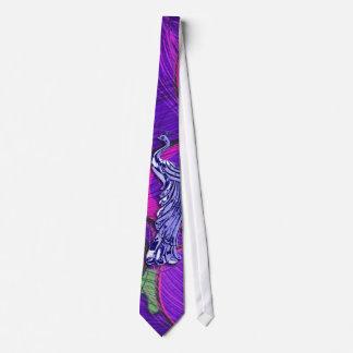 Gravata Pavão cor-de-rosa e roxo