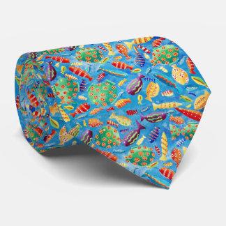 Gravata Peixes tropicais