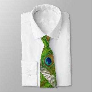 Gravata Pena do pavão