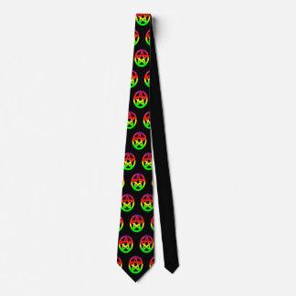 Gravata Pentacles coloridos psicadélicos