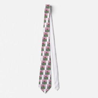 Gravata Peônia cor-de-rosa artística