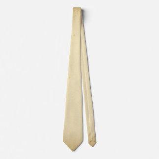 Gravata Pergaminho antigo vazio amarelado manchado do