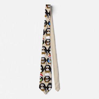 Gravata Personalize pinguins bonitos para o partido
