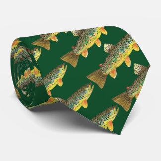 Gravata Pescador dobrando da pesca com mosca da truta de