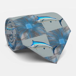 Gravata Pesque o espadim da pesca no redemoinho azul/laço