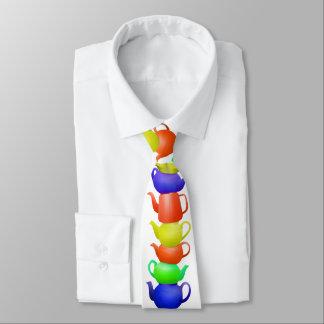 Gravata Pilha de bules pintados