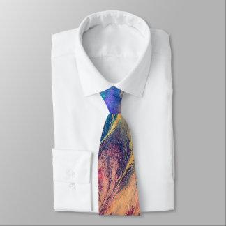 Gravata Pintura colorida do respingo do arco-íris abstrato