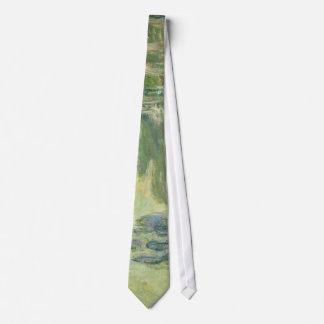 Gravata Pintura impressionista dos lírios de água de