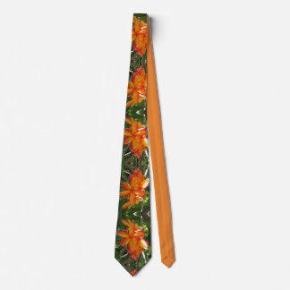 Gravata Plumeria havaiano