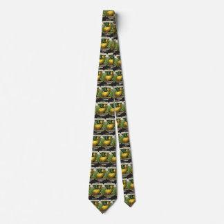 Gravata Polpa de verão do amarelo da arte da etiqueta do