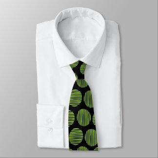 Gravata Pontos alinhados 190917 - verde e preto marcianos