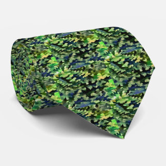 Gravata Pop art abstrato da folha em verde e no azul