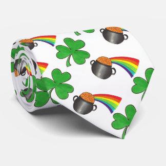 Gravata Pote do laço do dia de St Patrick do trevo do