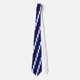 Gravata POVOS do azul dos elementos do design