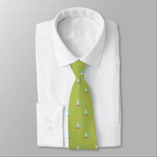 Gravata Prancha minúsculas no verde do teste padrão da