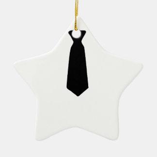 Gravata preta ornamento de cerâmica