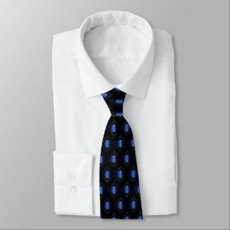 Gravata Preto & azul encaixotados - no laço