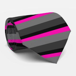Gravata preto cor-de-rosa de néon brilhante na moda e