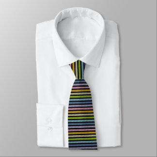 Gravata Preto Pastel esboçado do arco-íris das listras