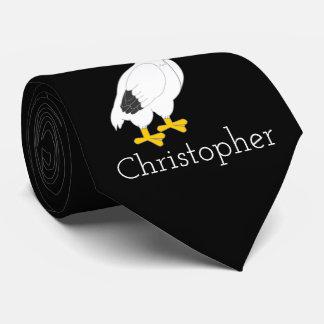 Gravata Preto personalizado do design do pelicano