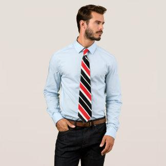 Gravata Preto vermelho & branco