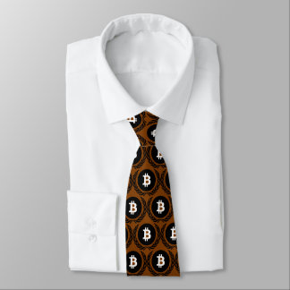Gravata Profundamente - logotipo marrom do cryptocurrency