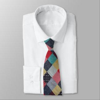Gravata quadrados do vintage do tecido dos retalhos