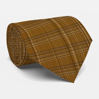 Gravata Quadrados pequenos de Brown
