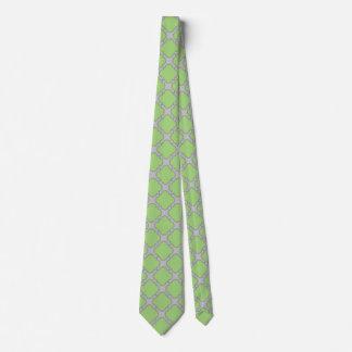 Gravata Quatrefoil verde