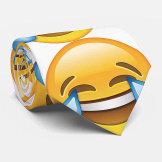 Gravata Rasgos de grito de riso do emoji da alegria