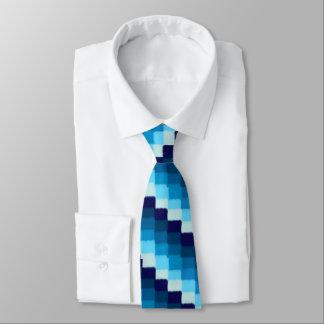 Gravata Retalhos azuis