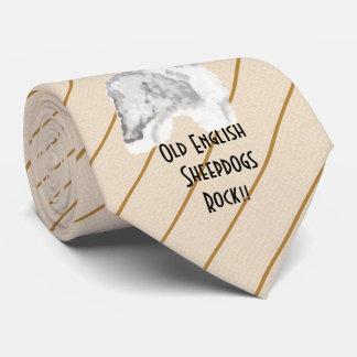 Gravata Rocha inglesa velha do Sheepdog - imprimiu ambo o