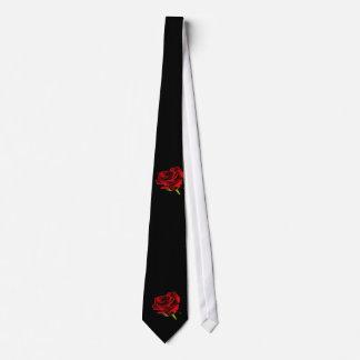 Gravata Rosa vermelha bonita