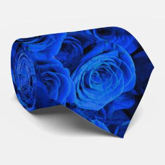 Gravata Rosas azuis