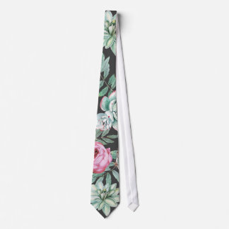 Gravata Rosas e teste padrão cor-de-rosa do cacto do
