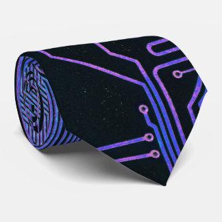 Gravata Roxo azul legal do computador de conselho do