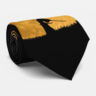 Gravata Samurai com Lua cheia