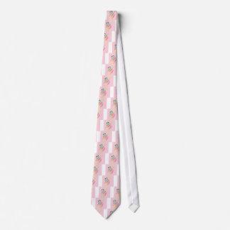 Gravata Sapo bonito no rosa