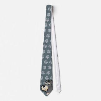 Gravata Schnauzer gigante/padrão/diminuto dos desenhos