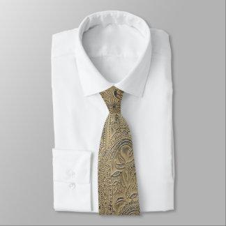 Gravata Sepia textured Paisley denominado vintage