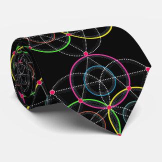 Gravata Série de círculos geométricos e linhas na cor