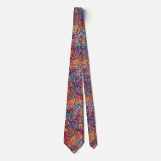 Gravata Splatter artístico pintado mão colorido de Boho