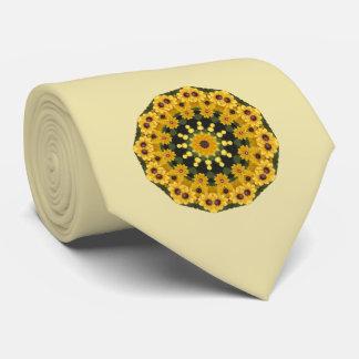 Gravata Susans de olhos pretos, mandala floral