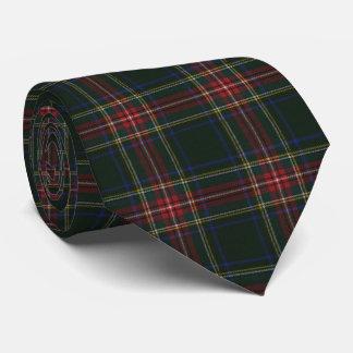 Gravata Tartan escocês original moderno preto de Stewart
