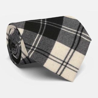 Gravata Tartan escocês original preto e branco de Erskine